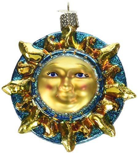 (Old World Christmas Ornaments: Fanciful Sun Glass Blown Ornaments for Christmas Tree)