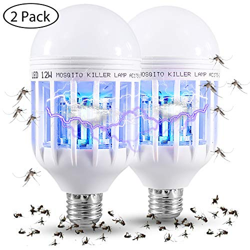 Lamp Killer (Gogogu 2 Pcak Mosquito Killer Lamp - Bug Zapper Light Bulbs, UV LED Electronic Insect & Fly Killer for Outdoor and Indoor)