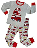 shelry Truck Boys Pajamas Toddler Sleepwear Clothes T Shirt Pants Set Kids Size 2Y-7Y