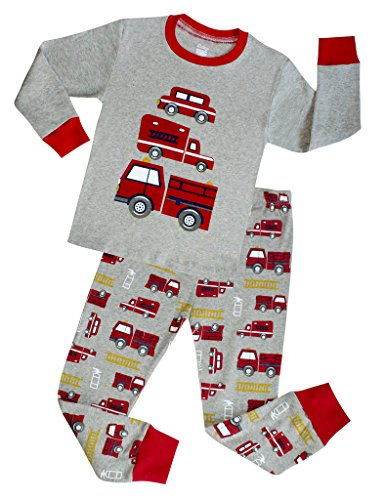 - Truck Boys Pajamas Toddler Sleepwear Clothes T Shirt Pants Set for Kids size 4Y