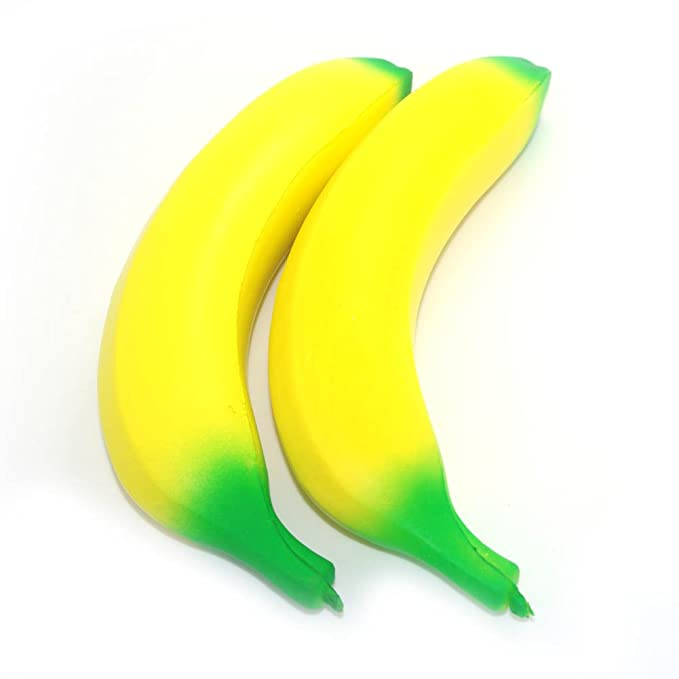 Amazon.com: 2pcs Jumbo lenta Rising Squishy plátano teléfono ...