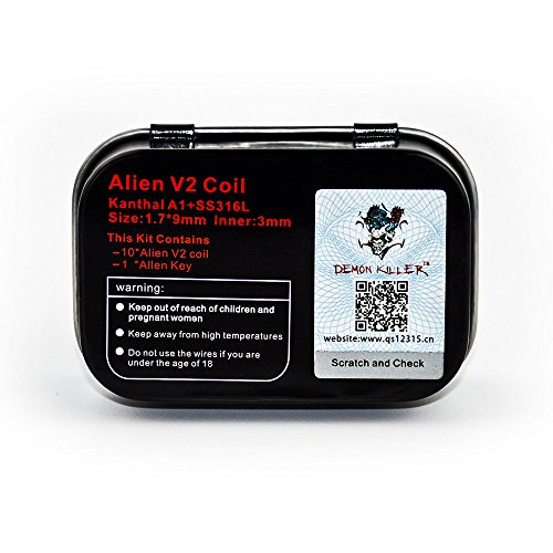 10 PCS Alien V2 Pre Made Coils, Super Kanthal A1 Coils Violence ...