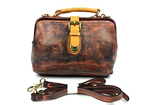 Clj New Vintage Cow Leather Tote Hobo Purses And Handbags Doctor Bags 8208