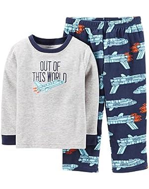 Carter's Boys 2-Piece Micro-Fleece Pajama Set