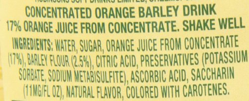 Robinson's Orange Barley Water, 28.7-Ounce (Pack of 4) by Robinsons (Image #5)