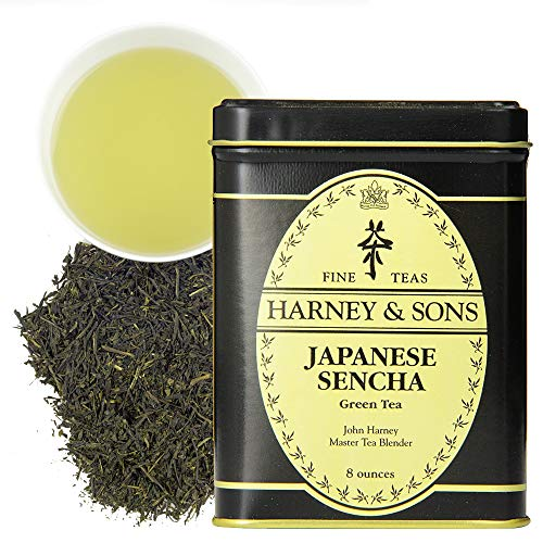 Harney & Sons Japanese Sencha Green Tea, Loose tea in 8 Ounce tin (12122)