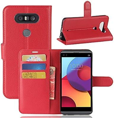 LG V20 Mini Funda, Funda de Cuero Pu Book Flip con Función de ...