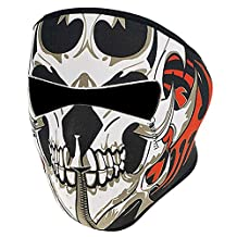 Baiyu Neoprene Assassin Skull Full Face Mask Reversible Biker Snow Skateboard Motor Bike Scary Sports Athlectic Facemask