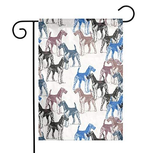 Life shop Airedale Terriers Stencil Fabric Art Garden Flag Yard Flag 12