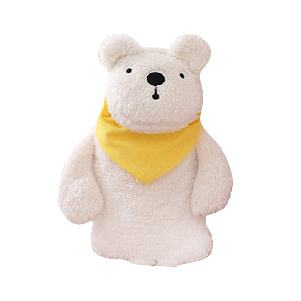 Premium Hot Water Bottle Kids, Large Rubber Hot Water Bag with Cute Stuffed Plush Rabbit 3D Animal Rabbit Bear Cover for Pain Relief, Hot and Cold Therapy and Travel Christmas Gift TiTa-Dong