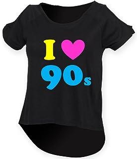 c04de919 Direct 23 Ltd I Love The 90s Ladies Drop Tail Top Black