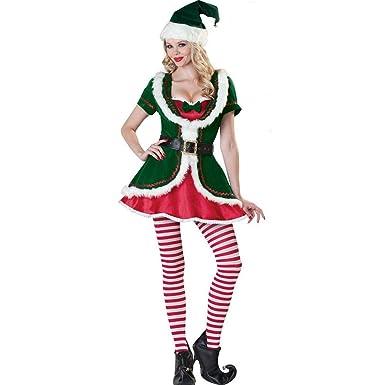 dou616 Ropa Interior, Juego de Traje de Navidad Sexy Verde ...