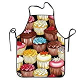 Unisex Kitchen Aprons Cupcakes Multi Chef Apron Cooking Apron Barbecue Aprons