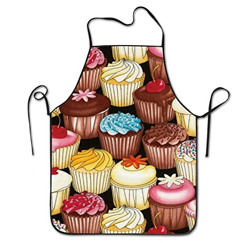 Unisex Kitchen Aprons Cupcakes Multi Chef Apron Cooking Apron Barbecue -