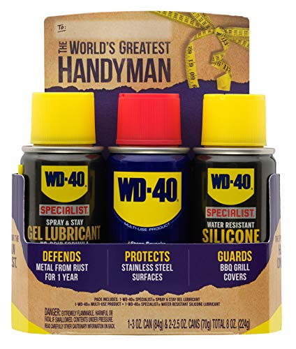 WD-40 Handyman Trio [Father's Day Gift] - (3) Pack Mini-Can Lubricant Kit with Original Multi-Use, WD-40 Specialist Silicone Lubricant, WD-40 Specialist Gel Lubricant ()