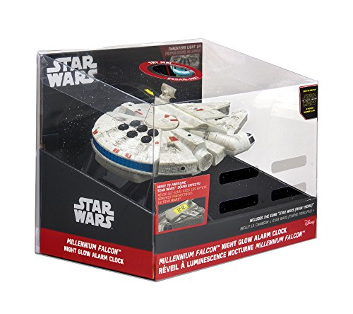 092298924809 - Star Wars-The Force Awakens Millennium Falcon Night Glow Alarm Clock carousel main 4