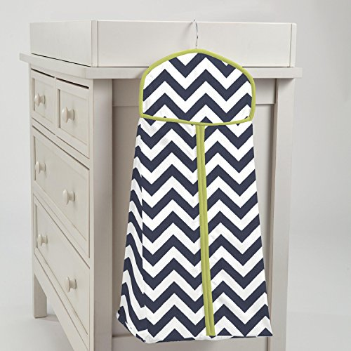 Carousel Designs Navy and Citron Zig Zag Diaper Stacker by Carousel Designs