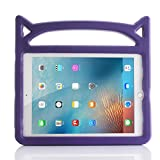 iPad 9.7 2018 & 2017/iPad Pro 9.7/iPad Air/iPad Air 2 Case, Lmaytech Light Weight Shock Proof Cartoon Kids Case for iPad Air/Air 2/iPad Pro 9.7 and iPad 9.7 2018 & 2017 (iPad Case, Purple)