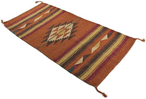 Onyx Arrow Southwest Décor Area Rug, 20 x 40 Inches, Center Diamond Rust/Brown