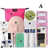 Best Eyelash Extension Kits - Gracefulvara Training Makeup False Eyelashes Extension Tool Practice Review