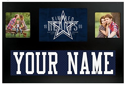 Dallas Cowboys NFL Custom Jersey Nameplate and Logo Picture Frame Dallas Cowboys Picture Frame