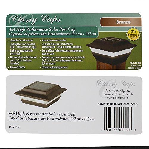 Classy Caps SL211R Aluminum Imperial Solar Post Cap, 4 x 4-Inch, Bronze by Classy Caps (Image #1)