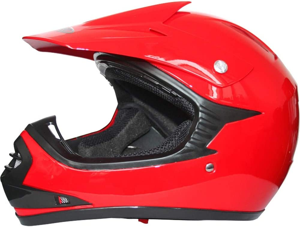 Occhiali Tuta da Motocross per Bambini Guanti Leopard LEO-X15 Casco da Motocross per Bambini off-Road ECE 22-05 Approvato