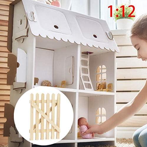 Gartenstuhl 1:12 Zarte Puppenhaus Miniatur M/öbel Modell Garten Dekoration Puppenhaus Zubeh/ör Zerodis Mini Puppenhaus Gartenstuhl Wei/ß