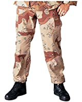 BDU Pants, Military Fatigues, Desert Camouflage
