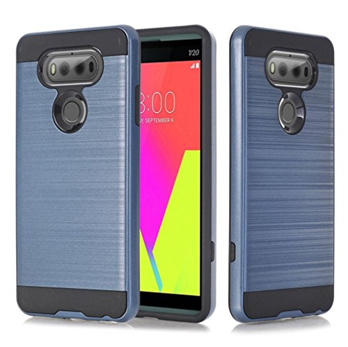Coohole New Fashion Hybrid ShockProof Stand Hard Protective Case Cover for LG V20 (Htc Wing)