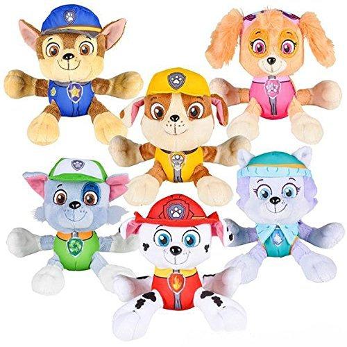 "PAW Patrol 6"" Plush Toy SET of 6 Characters Marshall Skye Everest Rocky Rubble Chase Nanco"