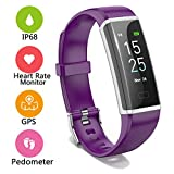 LIGE Fitness Trackers,IP68 Waterproof Sports Smart Bracelet Watch Heart Rate Sleep Monitor Purple