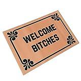 Welcome Bitches - Funny Doormats Personalized Durable Machine-washable Indoor/outdoor Door Mat 23.6'(L) x 15.7'(W) Inch