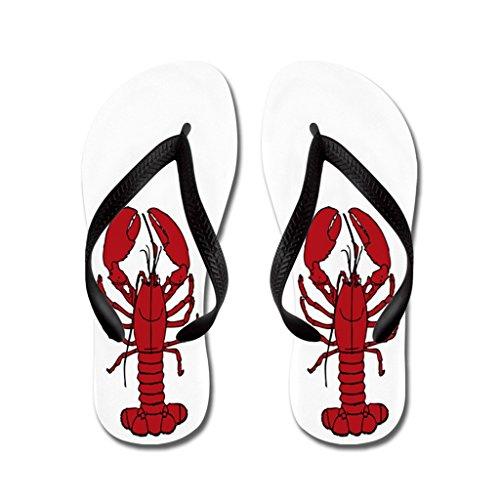 Lplpol Lobster is Red Flip Flops for Adults L with Black Flip Flops Belt - Lobster Flip Flops