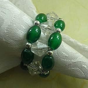 CH y CH granos de acrílico servilleteros anillo estilo chino, Dia4, 2,4 cm jadella 12 5.