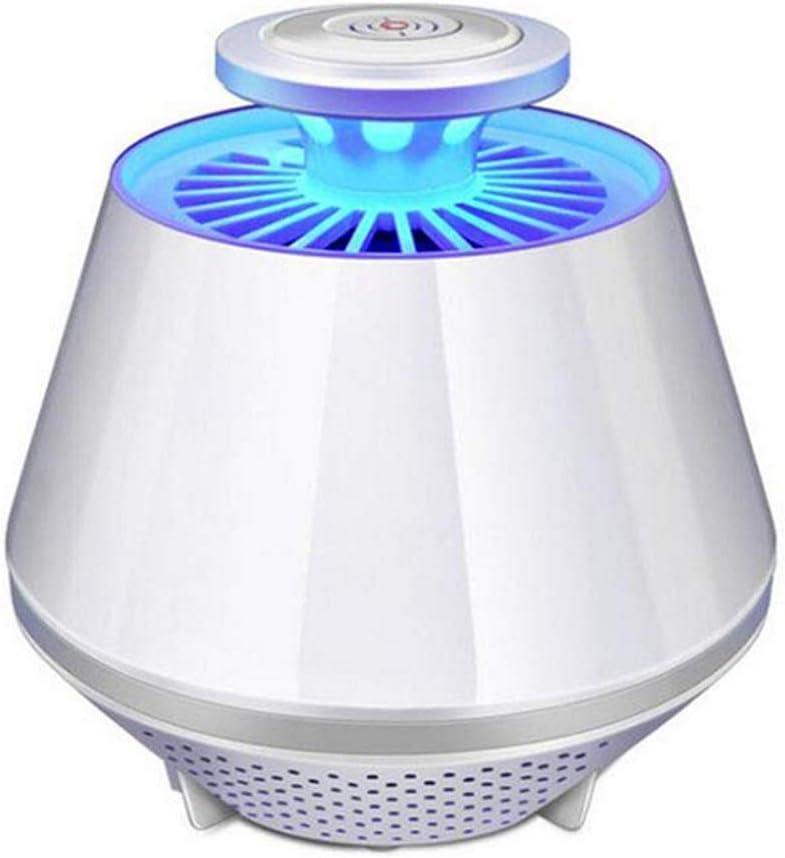 Lámpara para Matar Mosquitos, Zapper de Insectos con lámpara de caídas Control de luz Inteligente Controlador de luz UV UV LED Dispensador de Insectos con Mosca con Ventilador,White