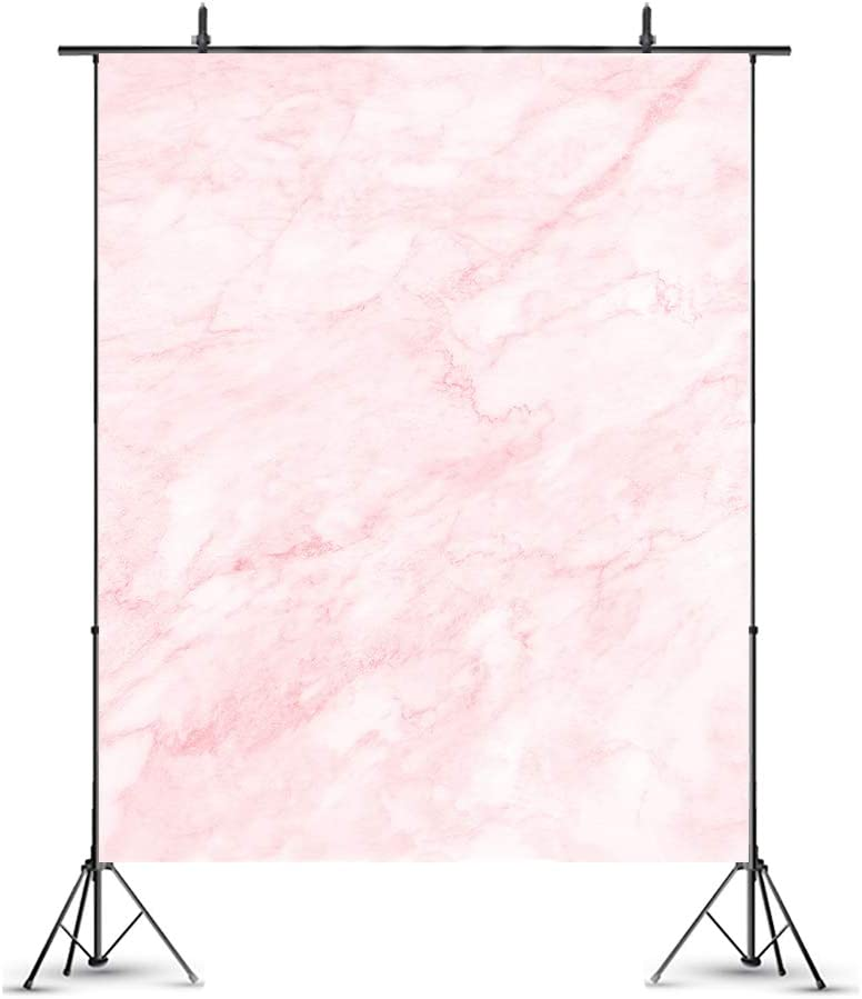 Little Lucky 6.5x10ft Pink Marble Texture Photography Backdrop Abstract Pattern Natural Stones Photo Background for Photographer Shoot Studio Prop