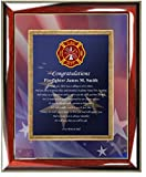 Personalized Fire Fighter Academy Graduation Gift of Poetry Custom Poetry Wall Plaque Fireman Graduation Present Firefighter Gift