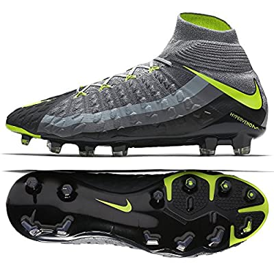 Nike Hypervenom Phantom 3 DF SE FG 882008-070 Wolf Grey/Volt Men's Soccer Cleats