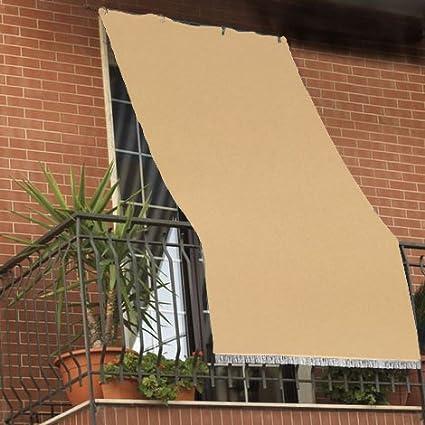 Tenda Da Sole Tessuto Resistente Per Balcone Con Anelli Lavabile A
