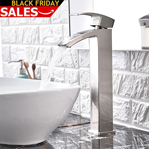 vessel sink waterfall faucet - 1