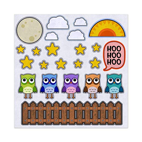 5 or 10 Little Owls Counting Nursery Rhyme Felt Play Art Set Flannel Board Story Storyboard Pieces for $<!--$20.00-->