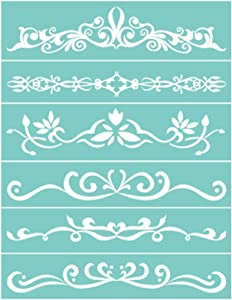 Focal20 DIY Self-Adhesive Silk Screen Printing Stencil, Flower Totem Patterns Mesh Transfers for Home Decoration, T-Shirts, Pillow, Fabric Bags, Wooden Board Painting (Flowers Totem)