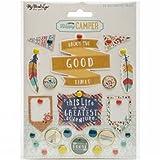 My Minds Eye NOM535055 Happy Camper Decorative Brads, 23 Per Pack