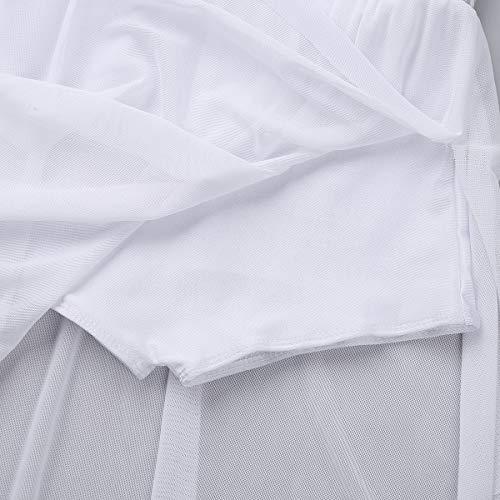 CHICTRY Fille Enfant Justaucorps de Danse Gymnastique Ballet Tutu Robe Body  de Ballet Gym Jupe plissé Costume de Danse Performance sans Manches 5-14  Ans  ... e4a69dd77f2