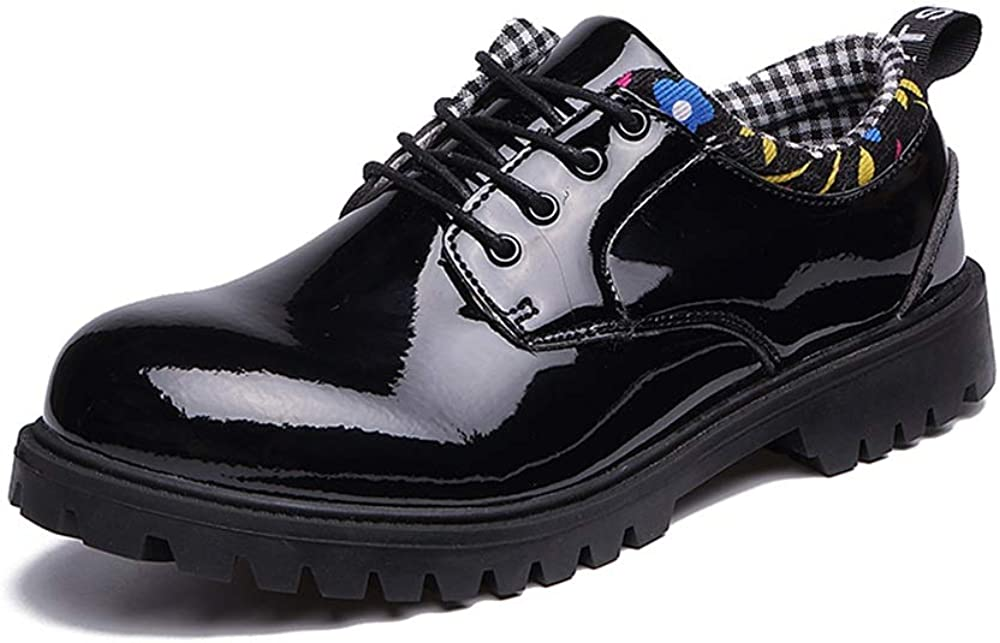 Gobling Mens Fashion Oxford Dress Shoes Comfortable Low-top Office Shoes British Style Round Toe Casual Walking Shoes