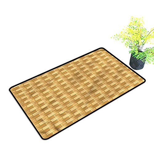 Door mats Outside Yall Bamboo,Abstract Style Handcraft for Laundry Room Entrance,H21xW33 inch