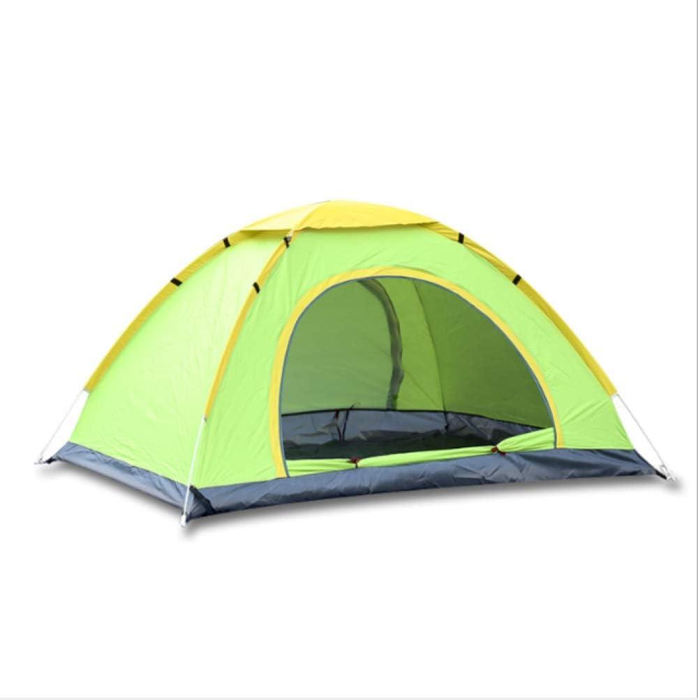 WEDZB Reistent,3-4 personen snelle automatische open tenten dubbellaagse tent waterdicht kamperen wandelen ultraviolet-proof zonnescherm tent Groene enkele lagen