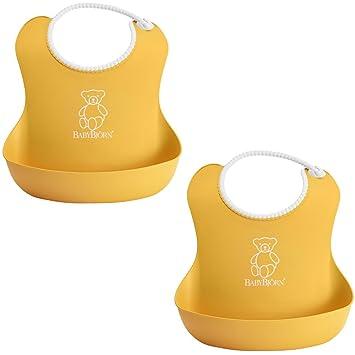 ac777945fe3 Amazon.com  BabyBjorn Soft Bib 2 Pack - Yellow Yellow  Baby