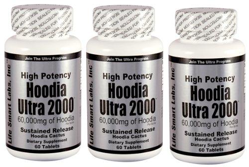 Hoodia Ultra 2000 Time Release HAUTE PUISSANCE 180 comprimés 3 Mois Hoodia diet pills